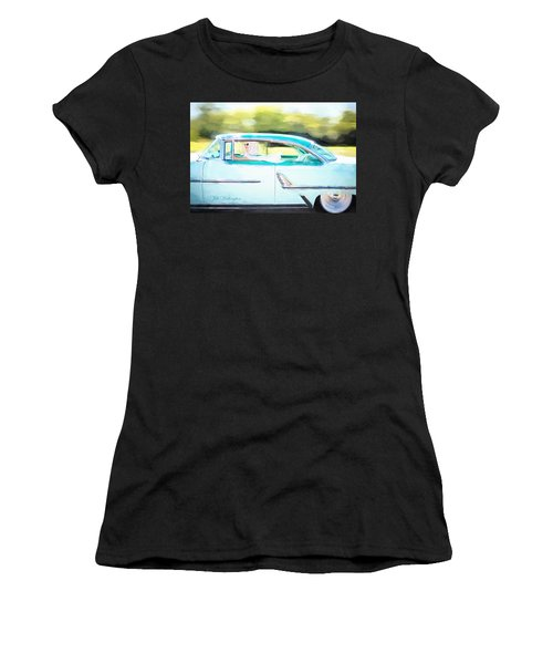 Vintage Val In The Turquoise Vintage Car Women's T-Shirt
