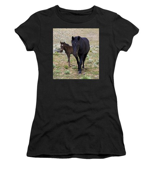 Wild Mustang Mare And Foal Women's T-Shirt