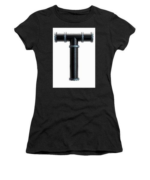 Pvc Pipe Letter Concept Women's T-Shirt