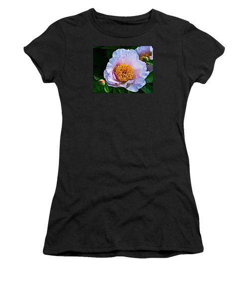 2015 Spring At The Garden White Peony  Women's T-Shirt