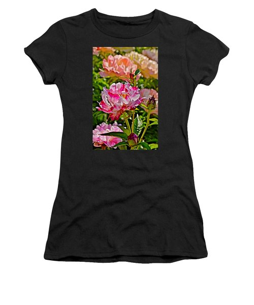 2015 Summer's Eve At The Garden Candy Stripe Peony Women's T-Shirt