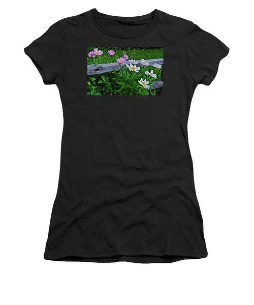 2015 Summer's Eve Neighborhood Garden Front Yard Peonies 2 Women's T-Shirt