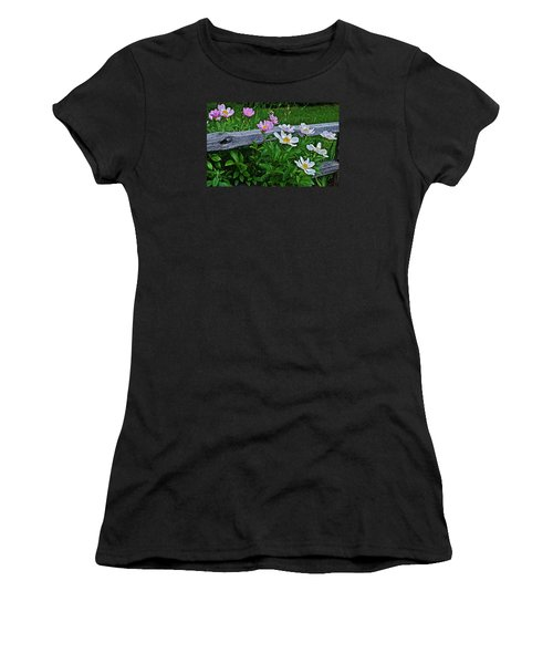 2015 Summer's Eve Neighborhood Garden Front Yard Peonies 2 Women's T-Shirt