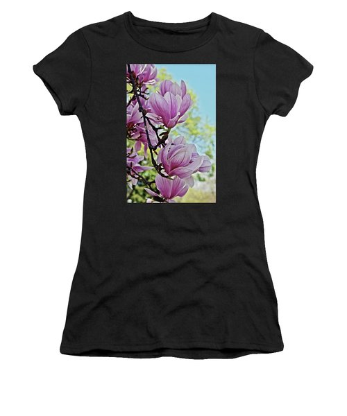Women's T-Shirt (Athletic Fit) featuring the photograph 2018 Vernon Magnolias 7 by Janis Nussbaum Senungetuk