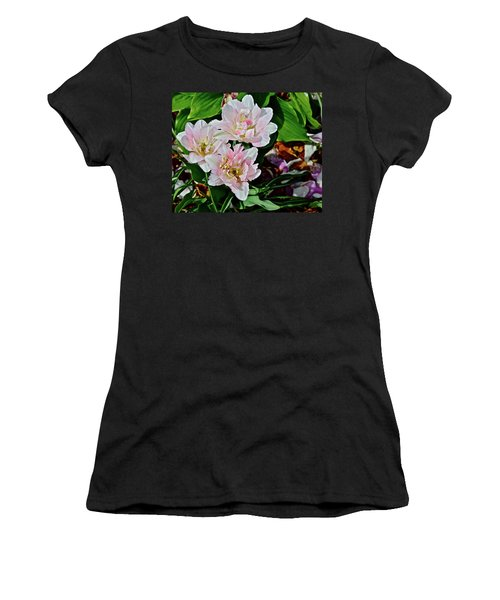 Women's T-Shirt (Athletic Fit) featuring the photograph 2018 Vernon Tulips 1 by Janis Nussbaum Senungetuk