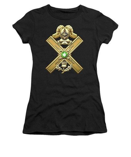 29th Degree Mason - Scottish Knight Of Saint Andrew Masonic Jewel  Women's T-Shirt (Junior Cut) by Serge Averbukh