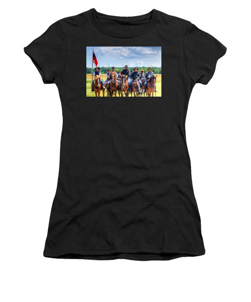 2nd Us Cavalry  Women's T-Shirt (Athletic Fit)