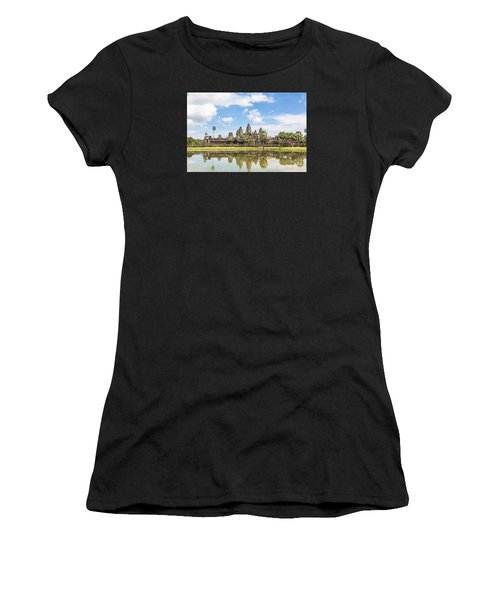 Angkor Wat Women's T-Shirt (Athletic Fit)