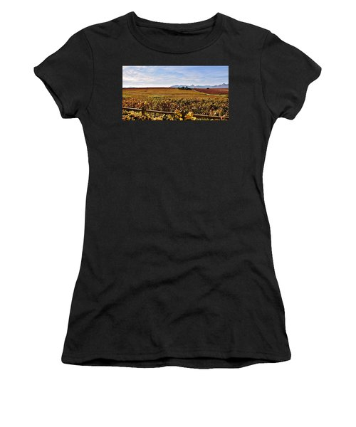 Autumn In The Vineyard Women's T-Shirt (Athletic Fit)