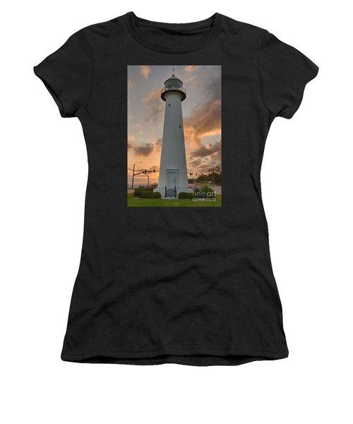 Biloxi Lighthouse Women's T-Shirt (Athletic Fit)