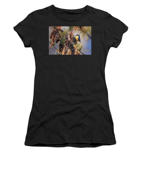 Black-capped Chickadee Women's T-Shirt (Athletic Fit)