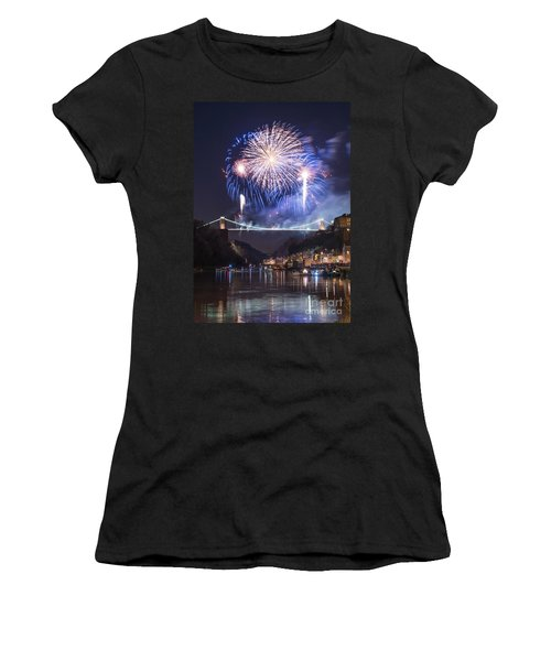 Clifton Suspension Bridge Fireworks Women's T-Shirt