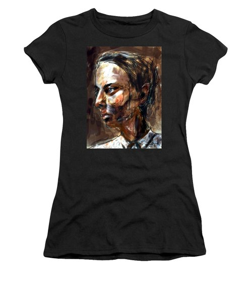 Women's T-Shirt (Athletic Fit) featuring the digital art Helen by Jim Vance