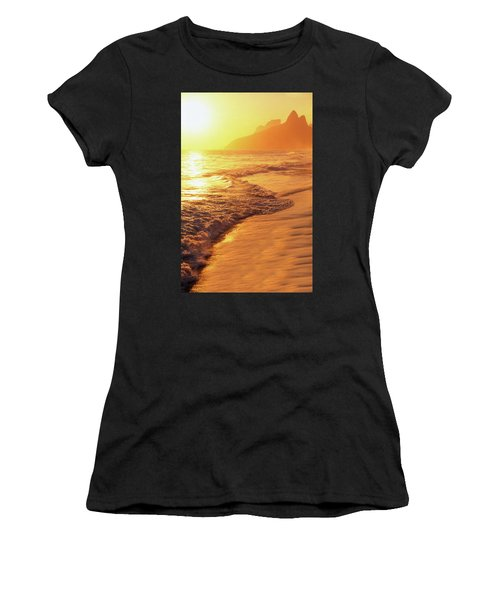 Ipanema Beach Rio De Janeiro Brazil Women's T-Shirt (Athletic Fit)
