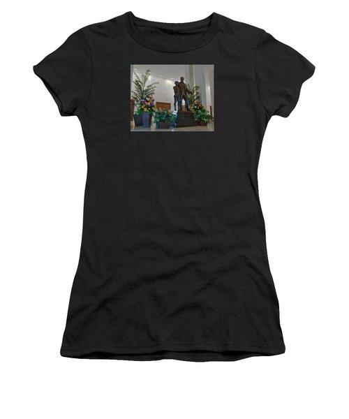 Milton Hershey And The Boy Women's T-Shirt (Junior Cut) by Mark Dodd