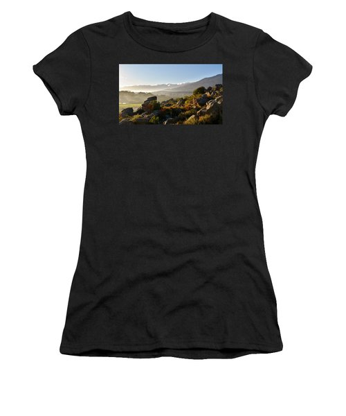 morning fog over Ceres Women's T-Shirt (Athletic Fit)