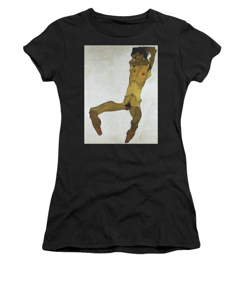 Seated Male Nude Women's T-Shirt