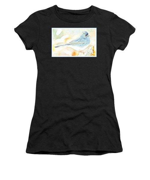 Slate-colored Junco, Snowbird, Male, Animal Portrait Women's T-Shirt