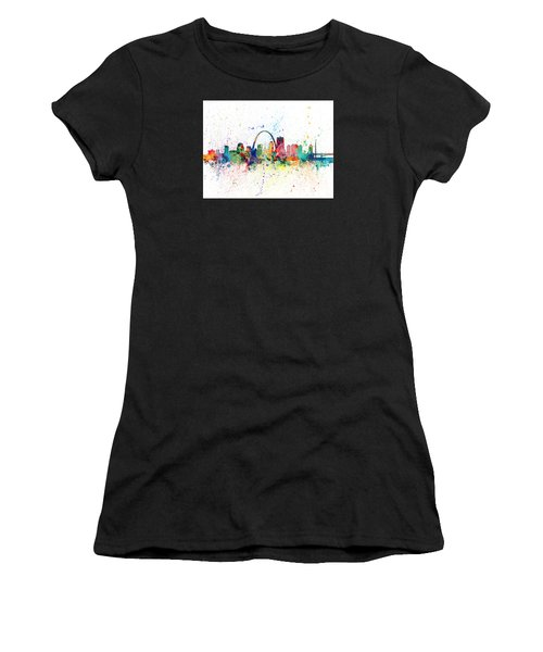 St Louis Missouri Skyline Women's T-Shirt (Athletic Fit)