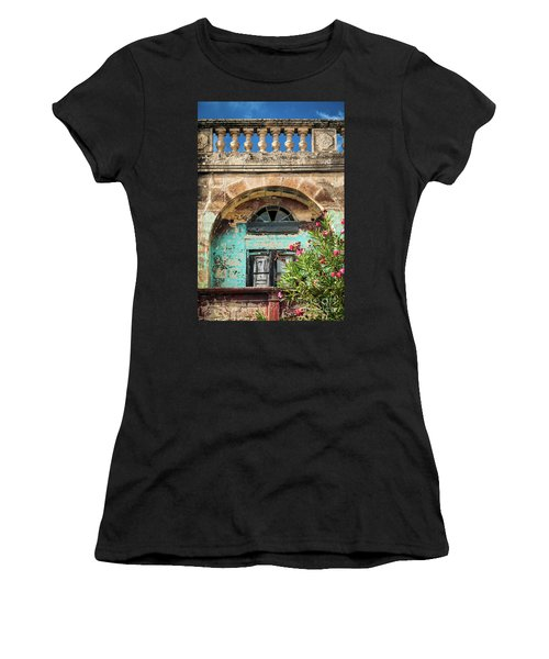 Traditional Mediterranean Maltese House Exterior Detail In Gozo  Women's T-Shirt (Athletic Fit)