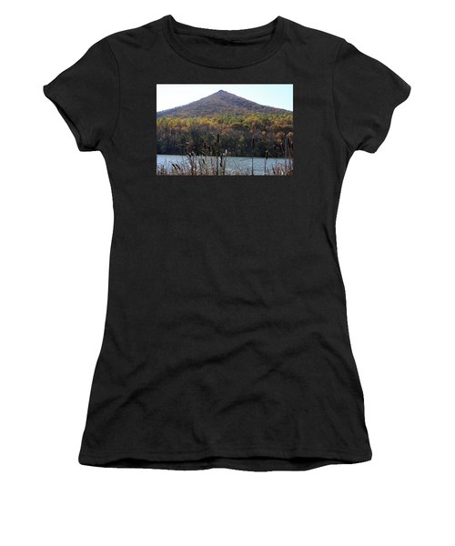 View Of Abbott Lake And Sharp Top In Autumn Women's T-Shirt