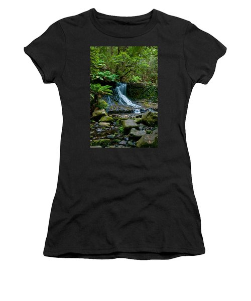 Waterfall In Deep Forest Women's T-Shirt (Athletic Fit)