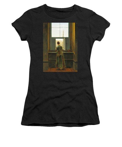 Woman At A Window Women's T-Shirt