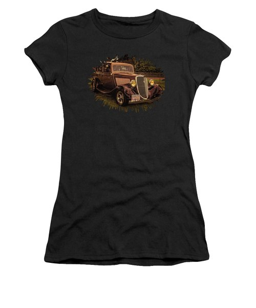 Cool 34 Ford Four Door Sedan Women's T-Shirt (Athletic Fit)