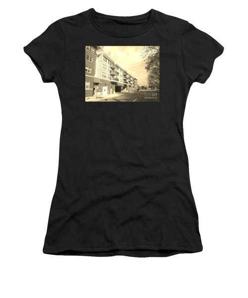 3rd Street Columbus Indiana - Sepia Women's T-Shirt (Athletic Fit)