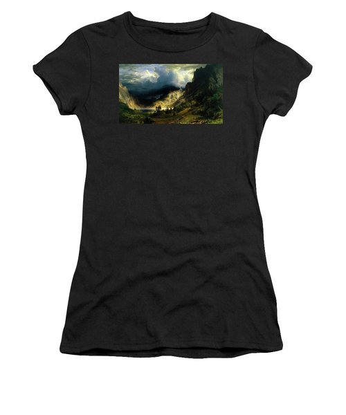 A Storm In The Rocky Mountains Women's T-Shirt
