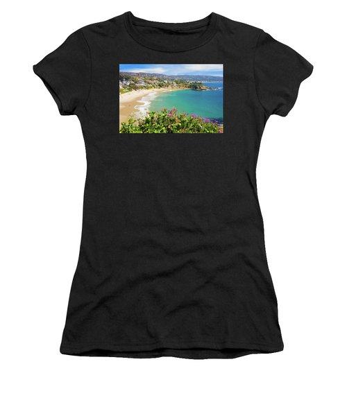 Crescent Bay, Laguna Beach, California Women's T-Shirt