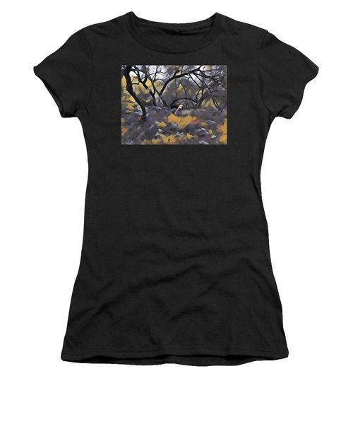 Morning Walk Trees Women's T-Shirt (Athletic Fit)