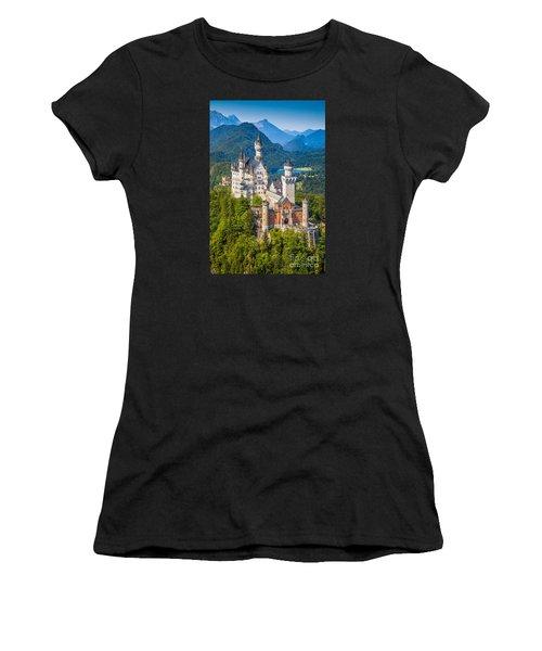 Neuschwanstein Fairytale Castle Women's T-Shirt (Athletic Fit)