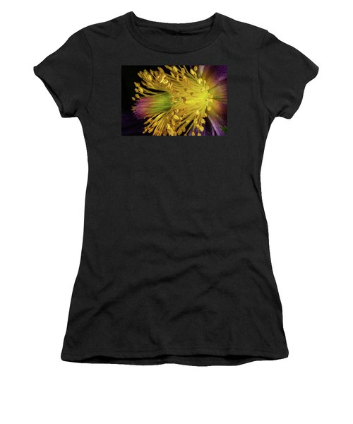 Purple And Yellow Women's T-Shirt (Athletic Fit)