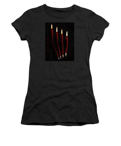 4 Reflected Candles Women's T-Shirt