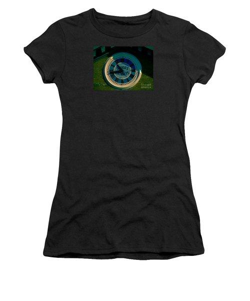 Women's T-Shirt (Junior Cut) featuring the photograph Sauer Clock by Melissa Messick