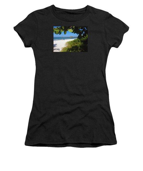 The Historic Naples Pier Women's T-Shirt (Athletic Fit)