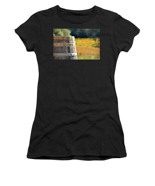 Wine Barrel In Autumn Women's T-Shirt