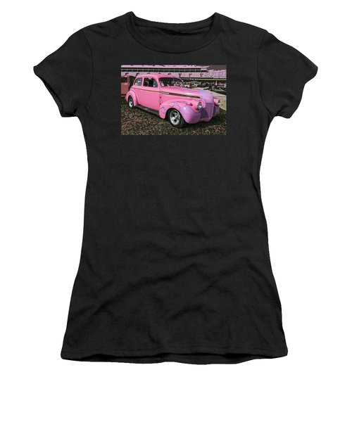 '40 Chevy Women's T-Shirt (Junior Cut) by Victor Montgomery