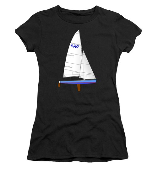 470 Olympic Sailboat Women's T-Shirt (Athletic Fit)