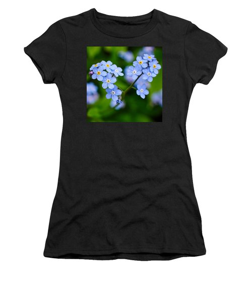 Forget Me Not Women's T-Shirt (Junior Cut) by Jouko Lehto