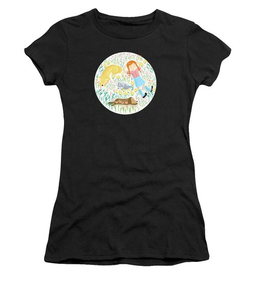 Summer Afternoon With Dogs, Cats And Clouds Women's T-Shirt (Athletic Fit)