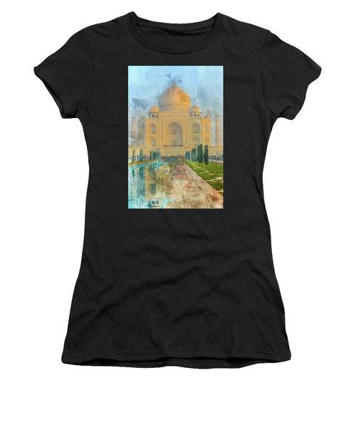 Taj Mahal In Agra India Women's T-Shirt (Athletic Fit)