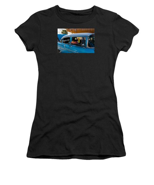Women's T-Shirt (Junior Cut) featuring the photograph 56 Chevy by Jay Stockhaus