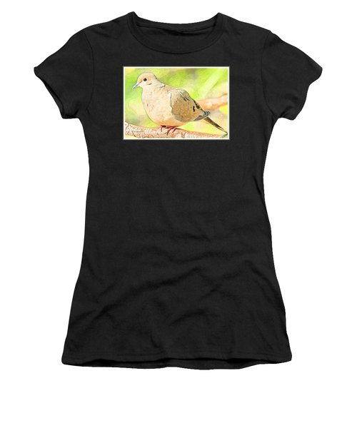 Mourning Dove Animal Portrait Women's T-Shirt
