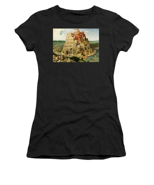 The Tower Of Babel  Women's T-Shirt (Athletic Fit)