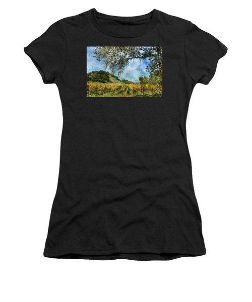 Vineyard In Napa Valley California Women's T-Shirt