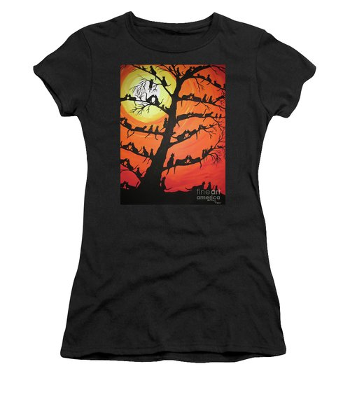60 Cats In The Love Tree Women's T-Shirt (Junior Cut) by Jeffrey Koss