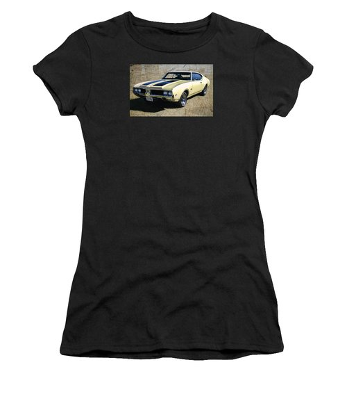 '69 Oldsmobile 442 Women's T-Shirt (Junior Cut) by Victor Montgomery