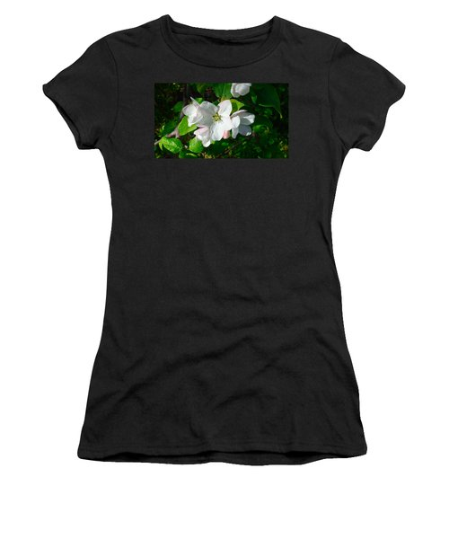 Women's T-Shirt (Junior Cut) featuring the photograph Apple Blossoms by Johanna Bruwer